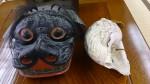 獅子頭とホラ貝